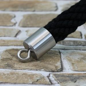 """Seilendkappe mit Ring  """"Edelstahl matt"""" für 30mm Absperrseile"""
