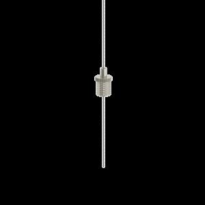 Drahtseilhalter Gripper 12 / M8x1 Gewinde - vernickelt