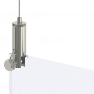 Drahtseilhalter/Gripper Typ15  mit Klemmhalter - vernickelt