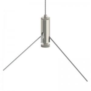 Drahtseilhalter Gripper 10 M4I Y-Form - vernickelt
