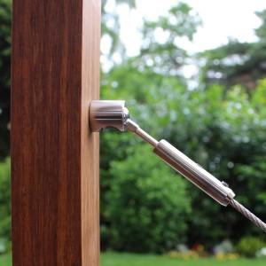 DIY Selbstmontage Seilspanner mit GK26 Kugelgelenk für 6mm Drahtseil