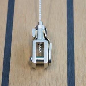 Drahtseilhalter Typ 15 Gabel 6x12 verklebt - vernickelt