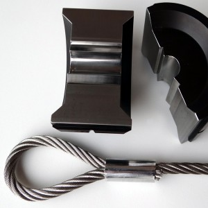 Pressbacken P43 - für DIN/EN 14311-3 Oval Pressklemmen