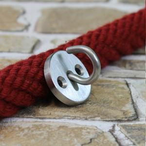 Wandhaken für Endkappen mit Ring - Edelstahl matt