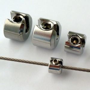 Edelstahl Klemmstopper 1-teilig für 2,0 - 6,0mm Drahtseil