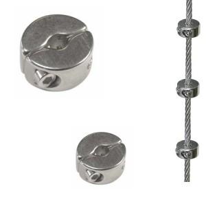 Edelstahl Seilklemmring 2-teilig - 2mm Drahtseil