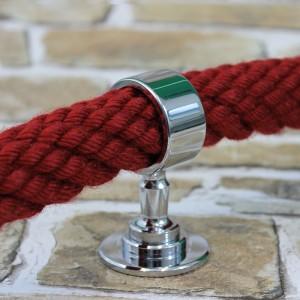"""Seilträger """"verchromt glänzend"""" für 20 bis 40mm Handlaufseile"""