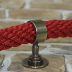 """Seilträger """"bronziert"""" für 20 bis 40mm Handlaufseil"""
