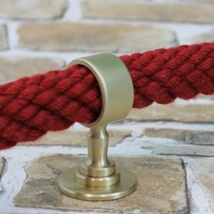 """Seilträger """"Messing matt"""" für 20 bis 40mm Handlaufseil"""