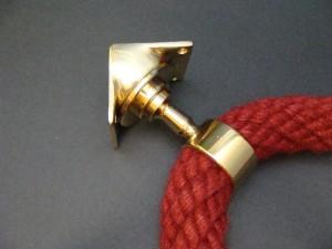 """Inneneckträger Seilträger """"Messing glänzend"""" für 40mm Handlaufseil"""