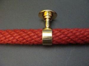 """Seilträger """"Messing glänzend"""" für 30mm Handlaufseil"""