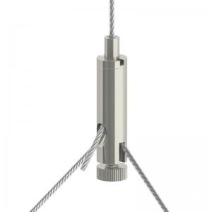 Drahtseilhalter Gripper 15 Y-SE M5i - vernickelt