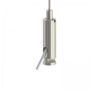Drahtseilhalter Gripper 20 - SE mit T-Kopf - vernickelt