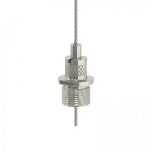 Drahtseilhalter Gripper 20 7 M13X1 für Pendelclip - vernickelt