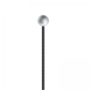 Drahtseil  - schwarz ø 1,5mm, mit Kugelnippel - Länge 3000mm