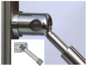 D-System Gelenkkopf mit D20 Terminal-Spanner und Anschlußbolzen