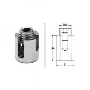 Kreuzklemme M12 offen für 4mm / 5mm Drahtseil
