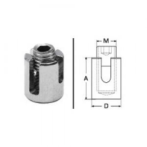 Edelstahl Seilkreuzklemme - 2mm Drahtseil