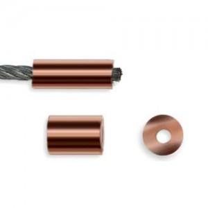 Kupfer-Rundpressklemmen Gr. 4,0 - 100Stück