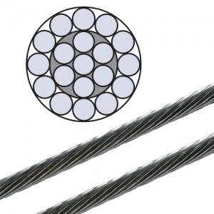 Edelstahl Drahtseil - 4,0mm Durchmesser