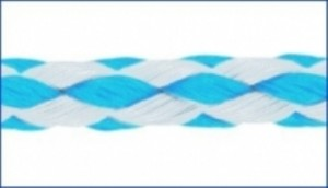 PP-Allzweckleine - 10mm weiß/blau - 200m Spule