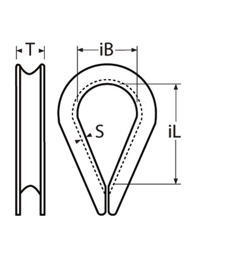 F/ür Seil /Ø 14mm 304 Edelstahl Drahtseil Kauschen Takelungs Hebezeug Silberner Ton