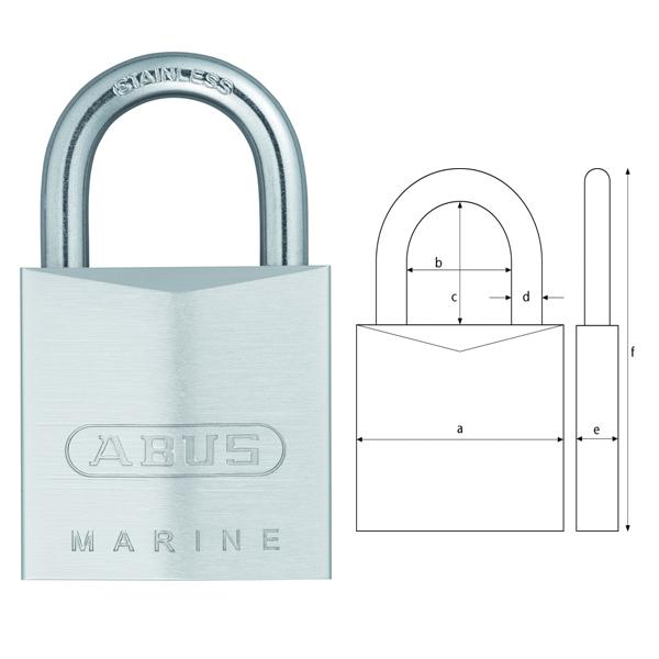 abus vorhangschloss marine 75 ib 100 rostfreie. Black Bedroom Furniture Sets. Home Design Ideas