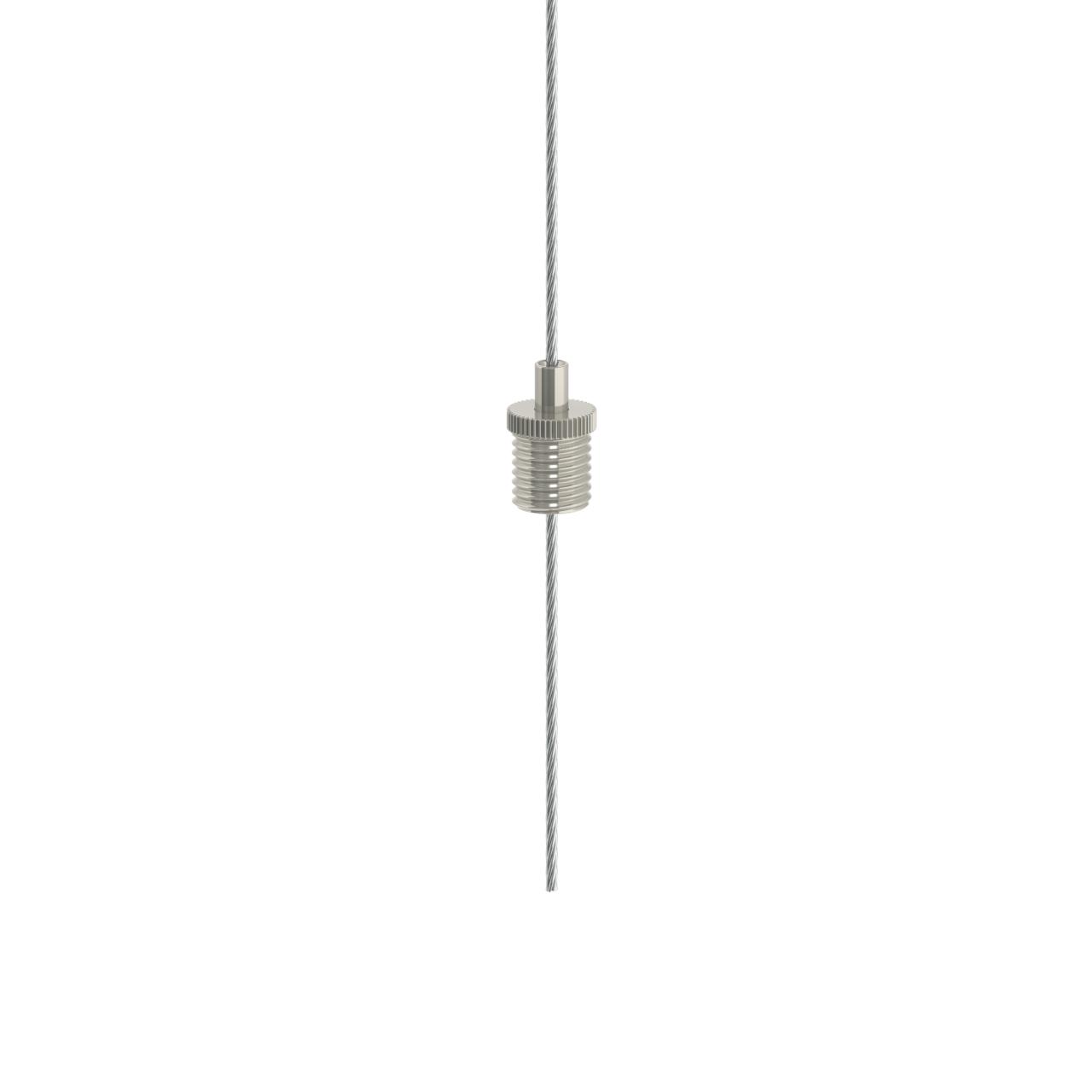 Drahtseilhalter Gripper 12 / M8x1 Gewinde - vernickelt-19501202
