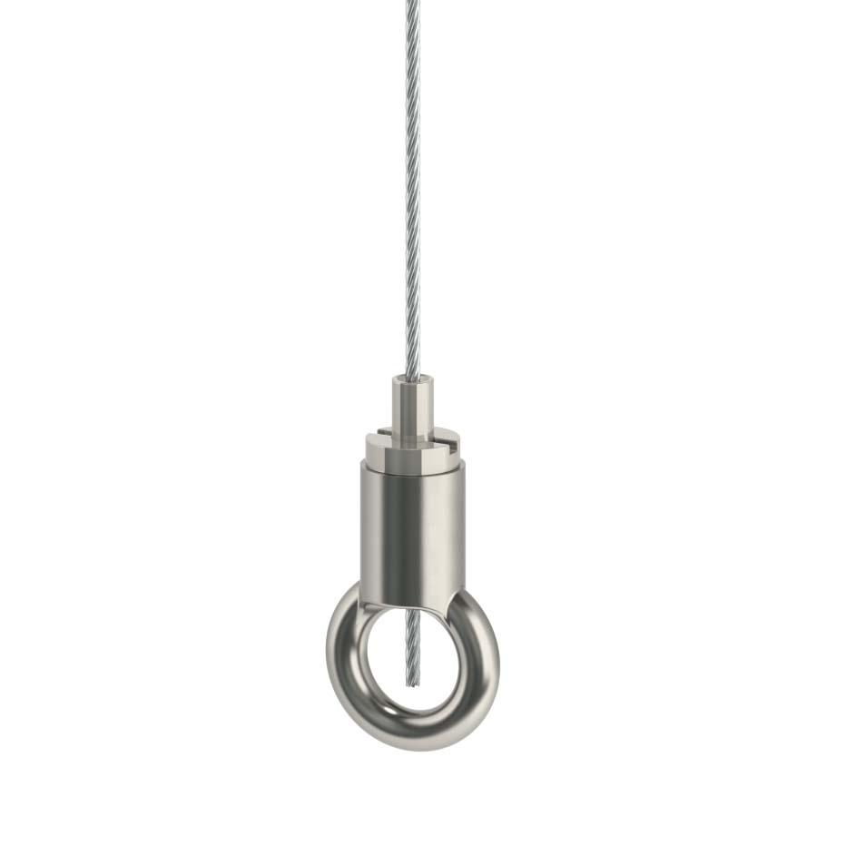 Drahtseilhalter Gripper Typ 15 mit Ring - vernickelt-19501502