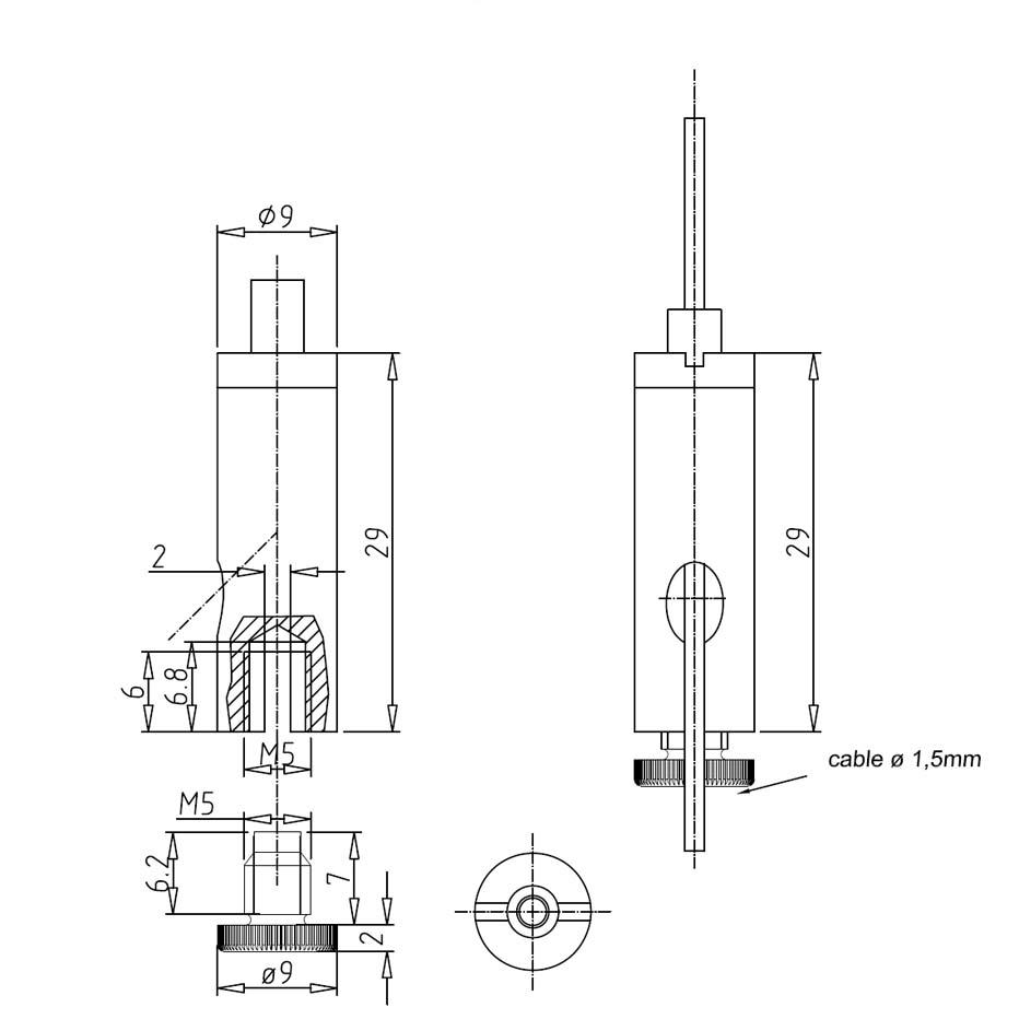 Drahtseilhalter Gripper 15 Y-SE M5i - vernickelt-19501508