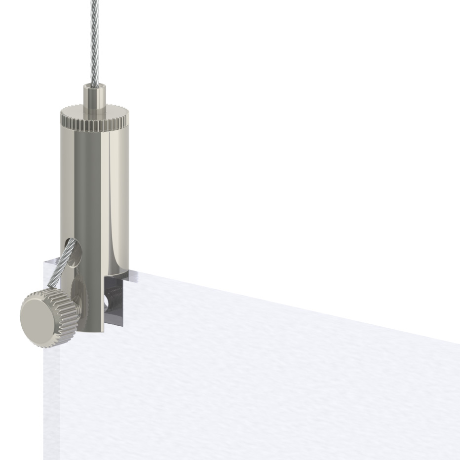 Drahtseilhalter/Gripper Typ15 mit Klemmhalter - vernickelt-19501513