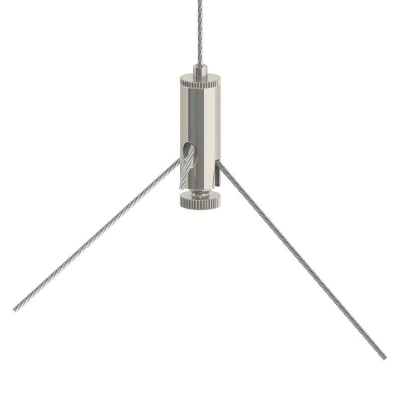 Drahtseilhalter Gripper 10 M4I Y-Form - vernickelt-19501003