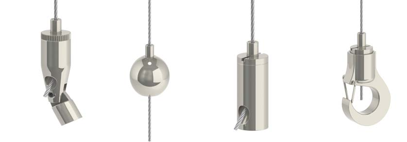 Drahtseilhalter Typ12 - Drahtseil: 1,0mm - 1,2mm