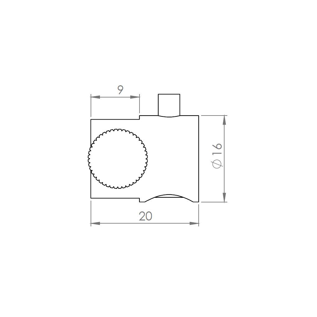Drahtseilhalter/Gripper Typ15 mit Klemmhalter - Links-19501529
