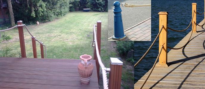 Gartengestaltung mit Tauwerk