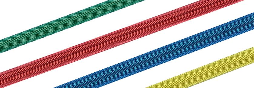 Gummileine / Gummiseile 3,0 bis 14,0mm ø - Bunt