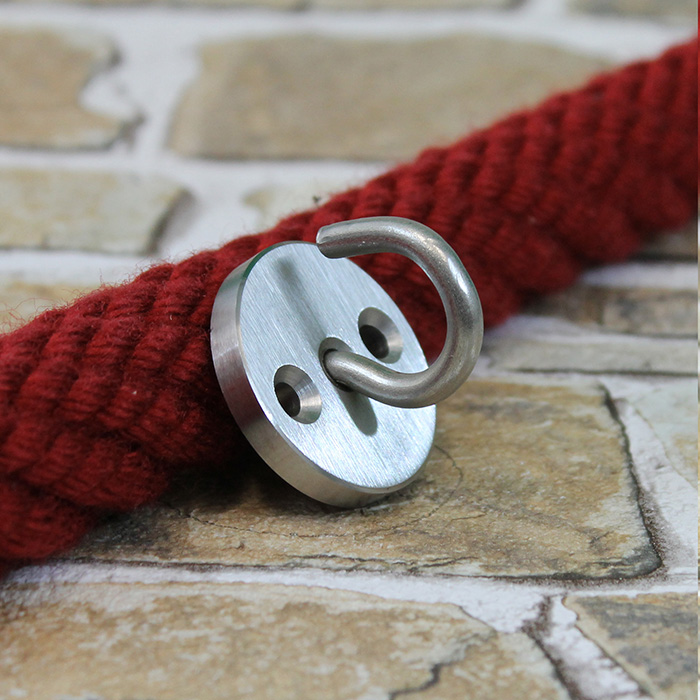 wandhaken f r endkappen mit ring edelstahl matt 360012. Black Bedroom Furniture Sets. Home Design Ideas