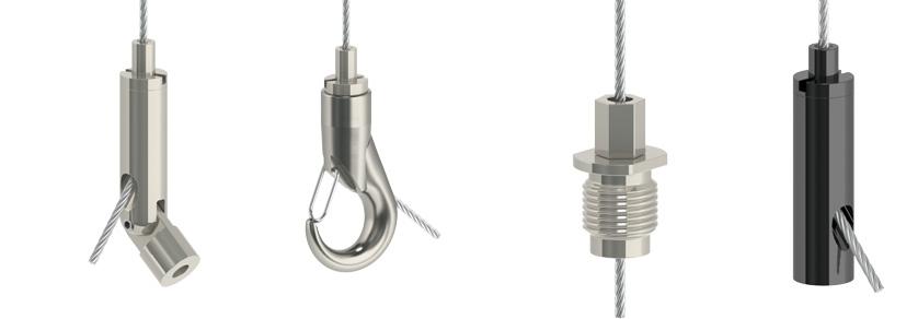 Bekannt HTF Drahtseilhalter / Gripper Typ 20 für 1,2mm - 2,0mm ø Drahtseile DB12