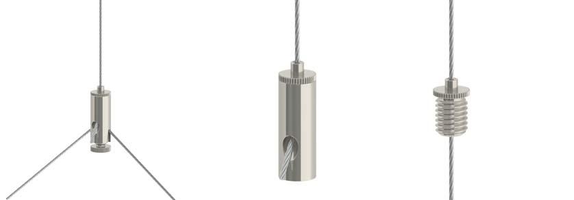 Drahtseilhalter Typ10 - Drahtseil: 0,8mm - 1,0mm