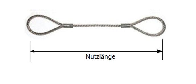 Edelstahl Drahtseile beidseitig mit Augpressung / Drahtseil 7x7
