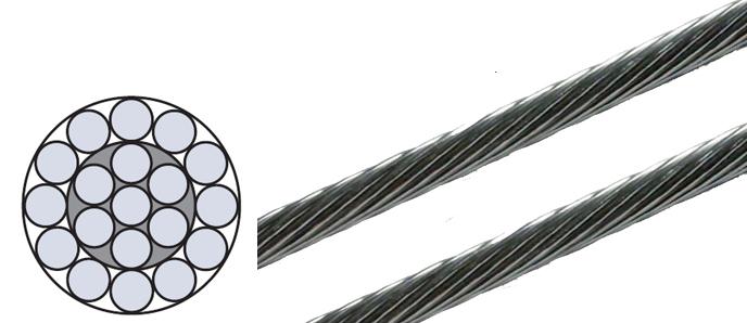 Edelstahl Drahtseil 1x19 1,0mm - 12,0mm ø
