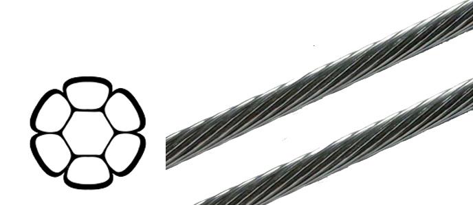 Python Edelstahl Drahtseil - 2,5mm - 12,0mm ø