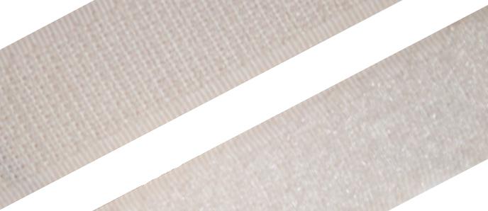 Hakenband selbstklebend, weiß 20 - 50mm Breite