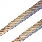 Edelstahl Drahtseil, 2,0/3,0mm - PVC transparent