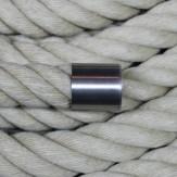 """Abschluß-Endkappe """"Edelstahl matt"""" für 30mm Handlaufseil und Absperrseil"""